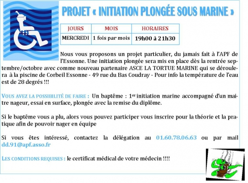 plongée et handicap,association tortue